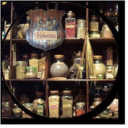 herboristerie, herbes et racines